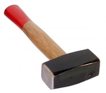 Club hammer with wooden handle