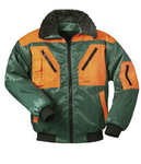 NORWAY two-coloured pilot-jacket ROTDORN green-orange