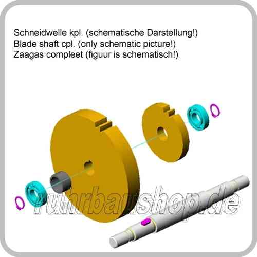 Blade shaft cpl. without bearings