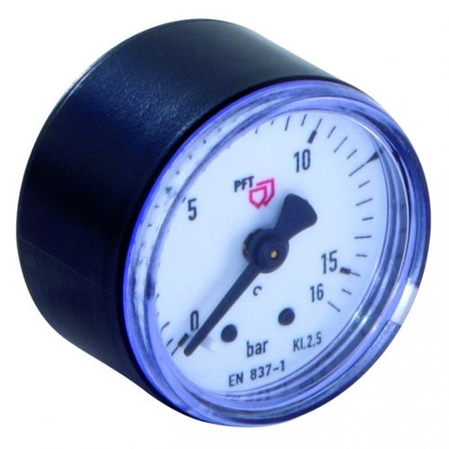 "Manometer 0-16 bar 1/8"" at rear, D = 40 mm"