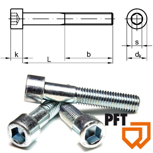 Cheese-head screw with hexagon socket DIN 912