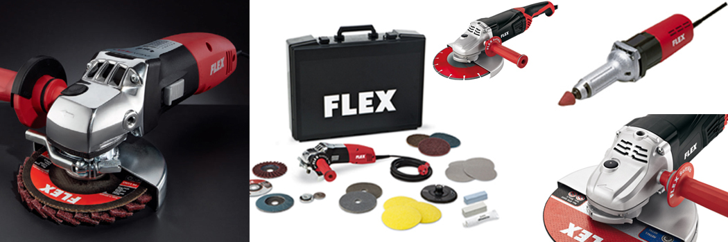 Here you will find FLEX angle grinders in the RuhrBauShop!