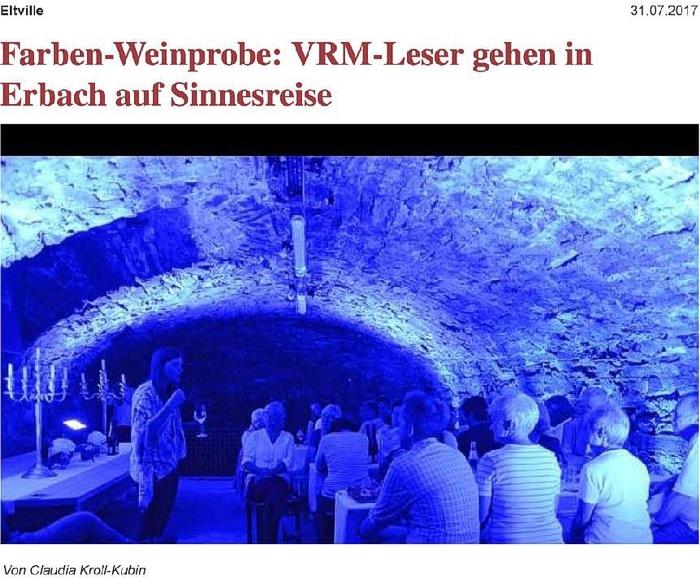 Wiesbadener Kurier Farben-Weinprobe Farbweinprobe Weinprobe Weingut Jung Dahlen Der Junge Dahlen Rheingau