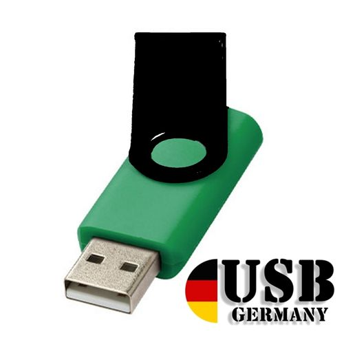1GB USB Flash Drive Swivel DarkGrün Schwarz