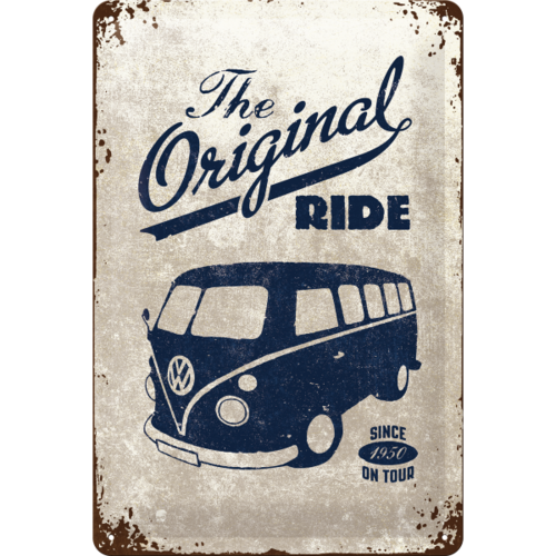475e5d07cbca39 original VW Bulli T1 Blechschild The Original Ride 20x30cm