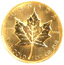 """Maple Leaf"" 1 oz Goldmünze"