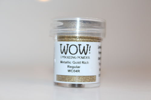 WOW Embossing Pulver Metallic Gold Rich Regular WC04R