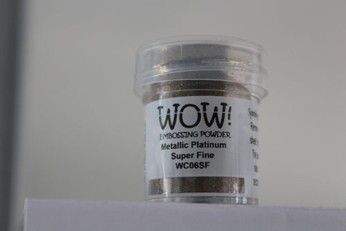 WOW Embossing Pulver Metallic Platin Super Fine WC06SF