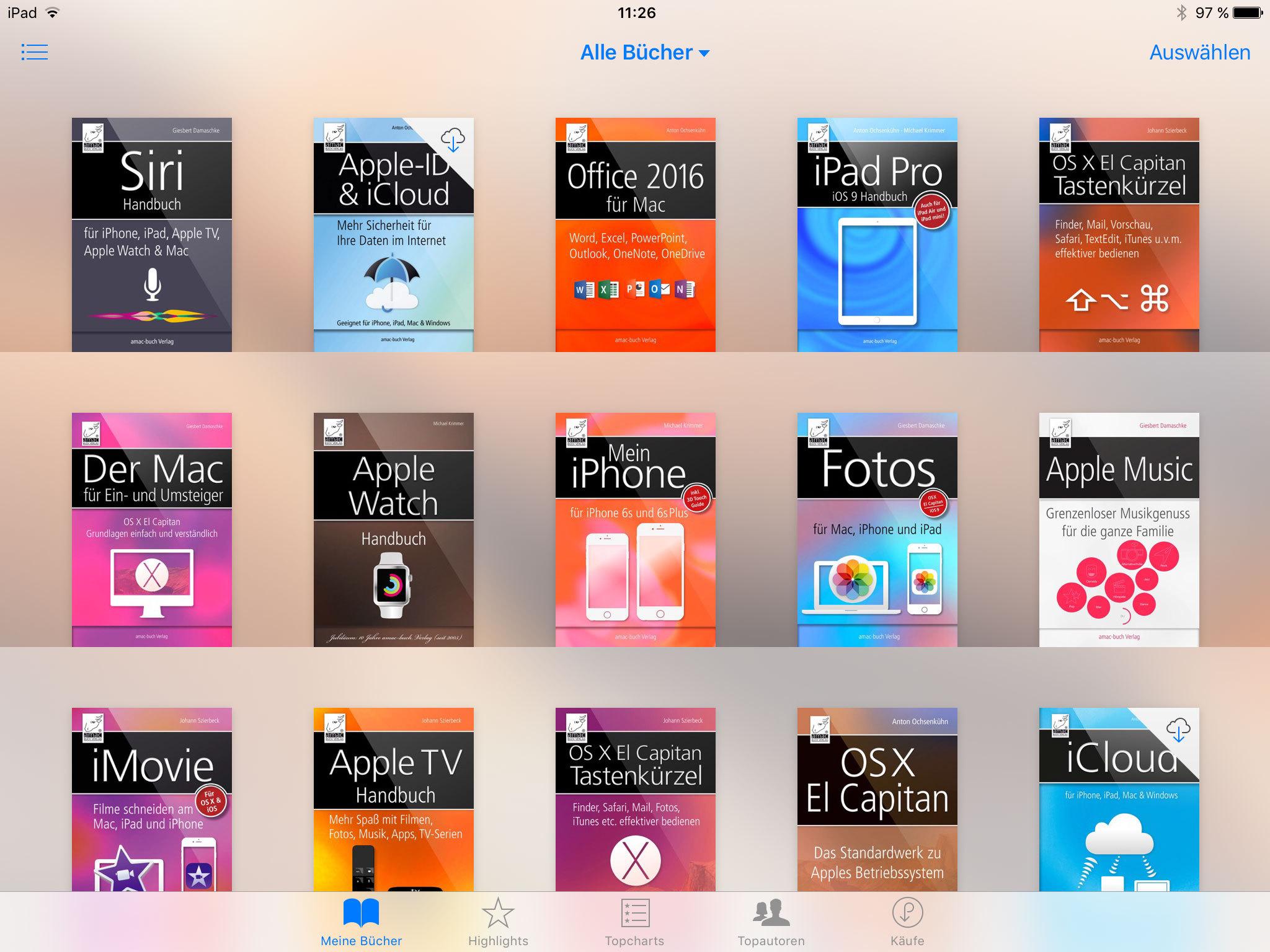 E-Book ist in iBooks aufgelistet
