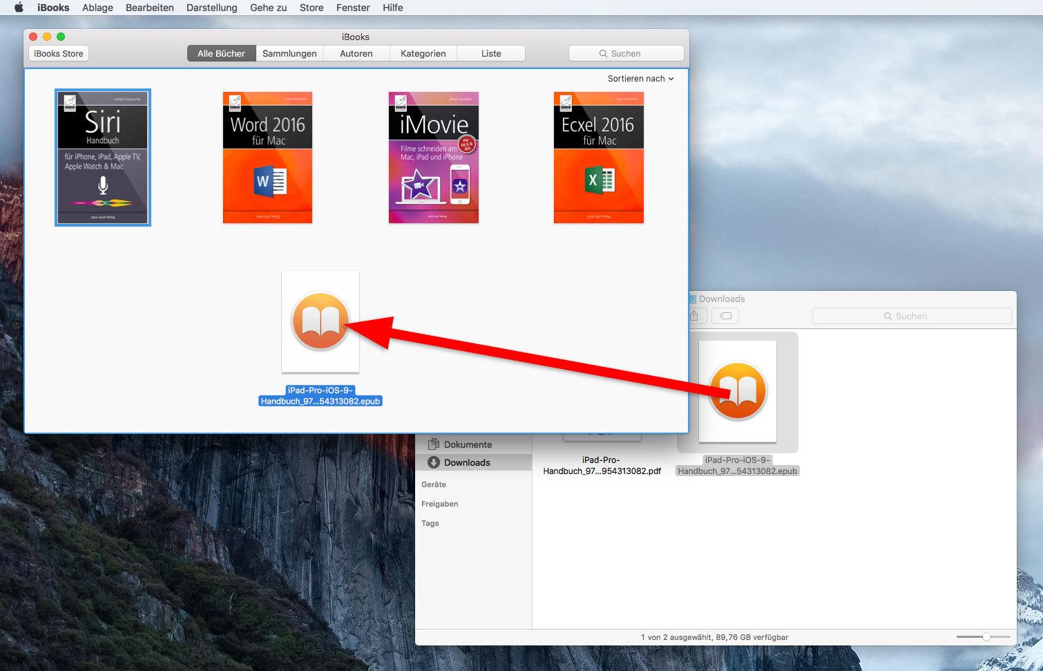 E-Book in iBooks hinzufügen