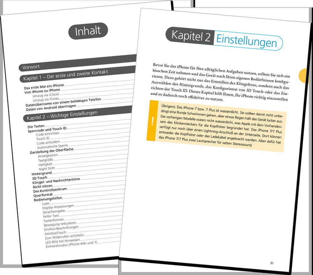 Leseprobe - iPhone iOS 10 Handbuch