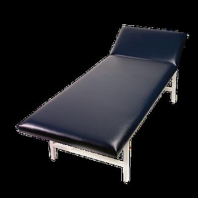 ruheraumliege stahlrohr kopfteil verstellbar blau von s hngen. Black Bedroom Furniture Sets. Home Design Ideas