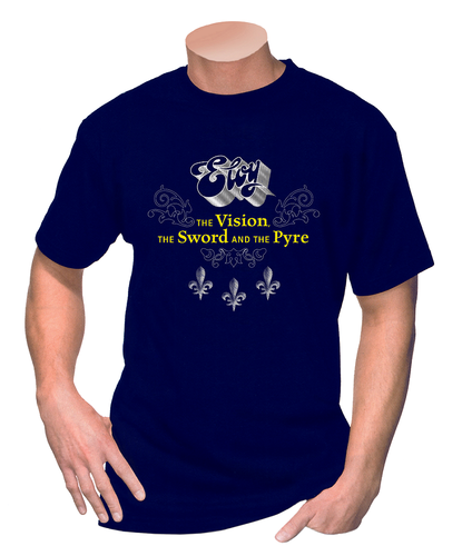 ELOY - T-Shirt THE VISION, THE SWORD AND THE PYRE 1 - Blue