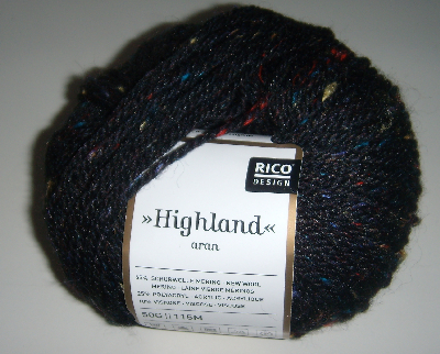 "50g ""Highland"" - sportive Wolle im Tweed-Look"