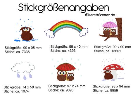 Stickmotive und Stickgrößen ©KerstinBremer.de