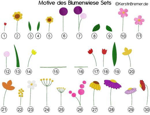 Motive der Blumenwiese