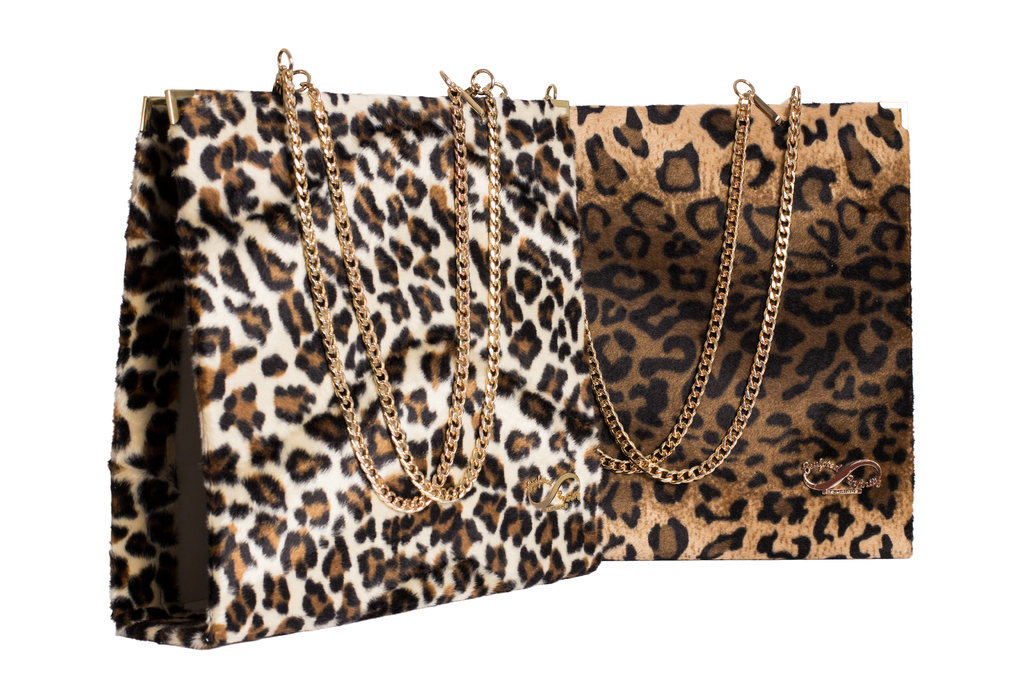 Plush & Leopard Folder Bag