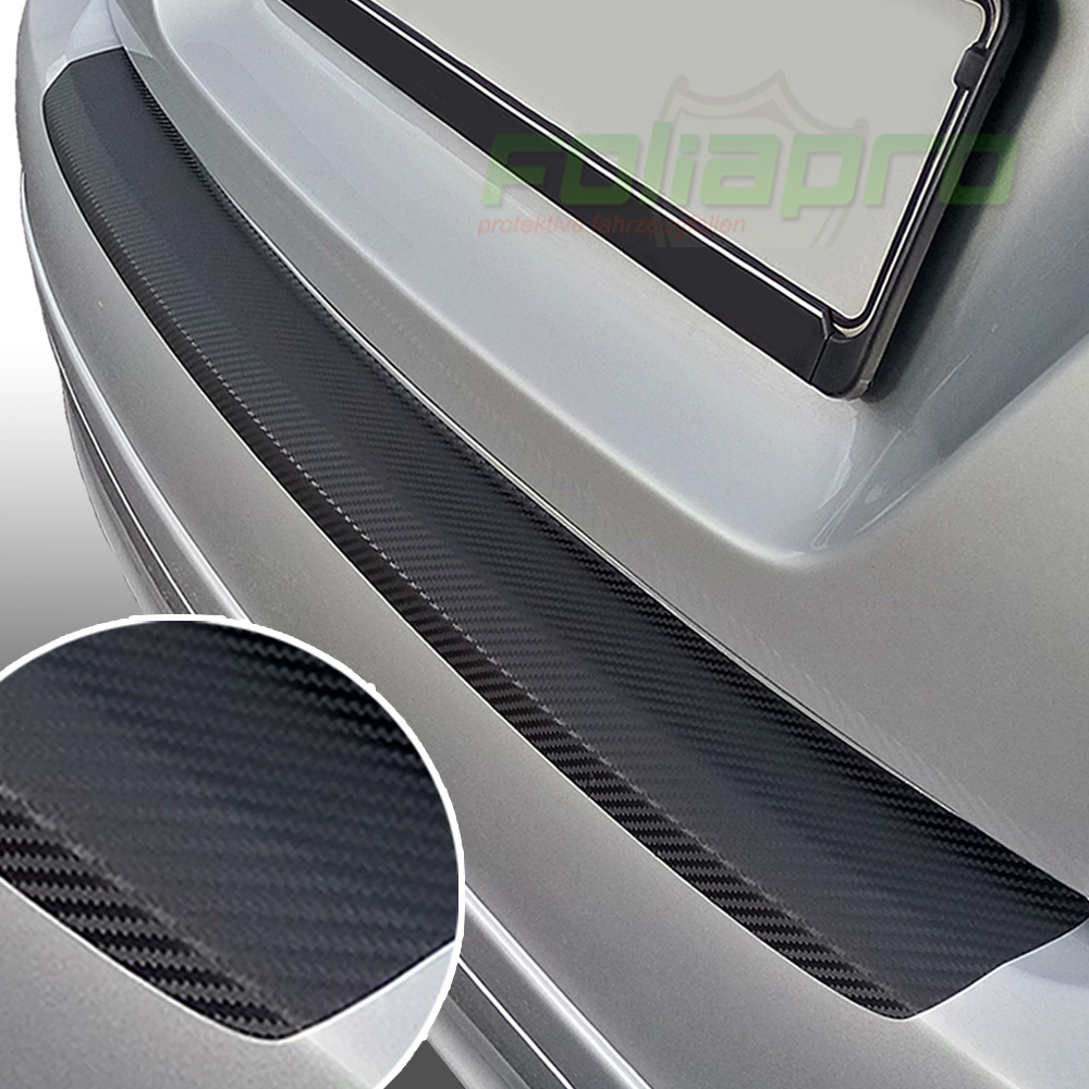 9N // 9N3 LADEKANTENSCHUTZ Lackschutzfolie für VW POLO ab 2001 schwarz glänzend