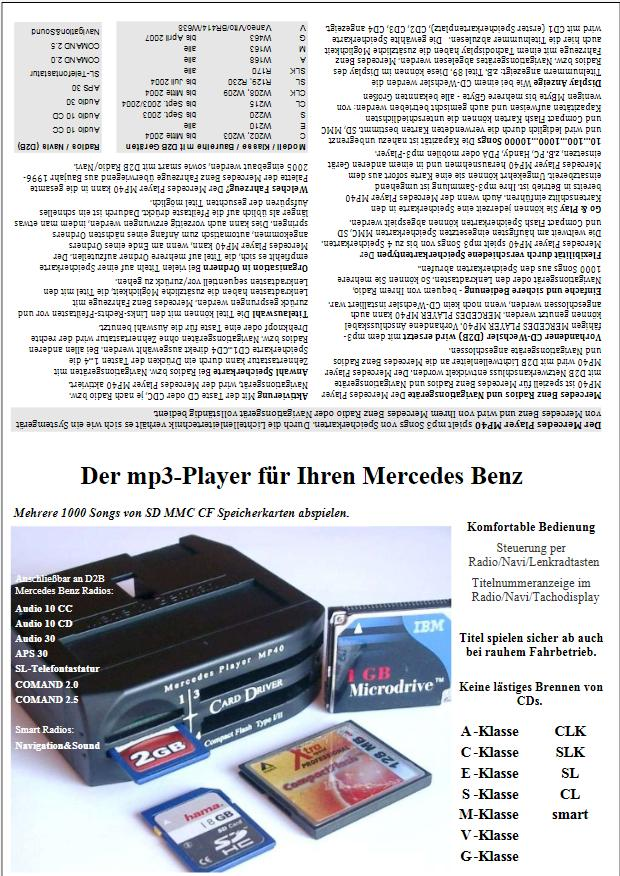 Vitrine-FLYER Mercedes Player MP40