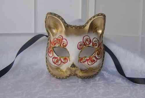 Gatto (painted) cat mask