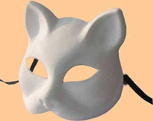Venetian blank cat mask type A (Gatto A)