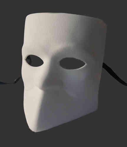 Venezianische Bauta-Maske (Casanova-Maske) Modell A