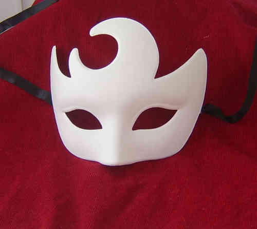Venetian Colombina Luna white mask  (moon mask)