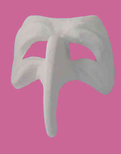 Venetian Mask with nose bent downwards (white)