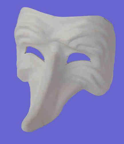 Mask with nose bent upwards (white)