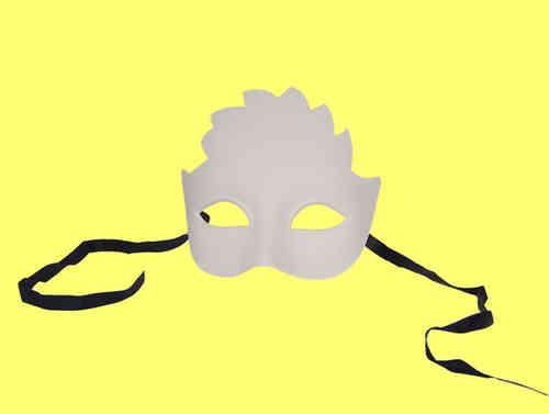 Venetian Sun Mask (colombina Sole), white, (children size 4-10)