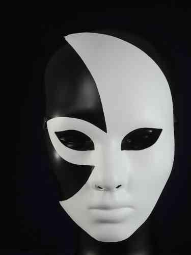 Mezzo Volto Venetian Half Face Mask, Type B (diffuse lips)