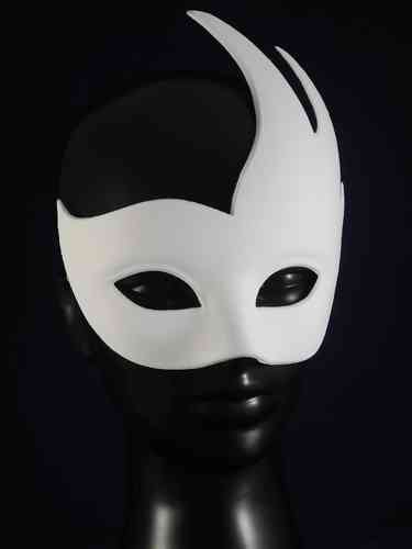 Venetian swan mask (white)