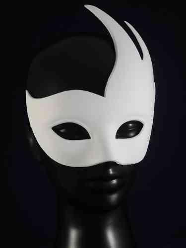 Masque colombine cygne (blanc/vierge)