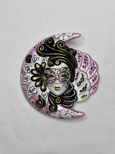 Venetian decorative wall mask Moon and Sun (S rose)