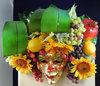 Bacchus mit Früchten - Venezianische Wandmaske