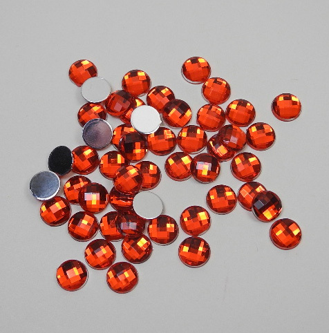 Pierres strass rouges 8 mm env. 50 pcs.