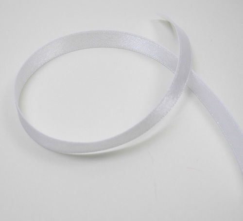 Satin tape 10 mm white