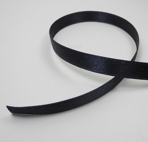 Satin tape 10 mm black