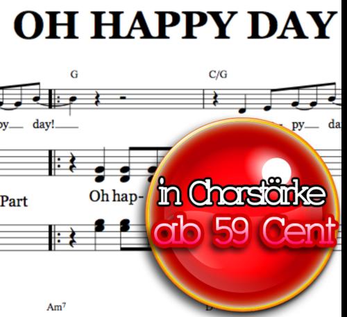 Oh happy day - Chornoten zum Download