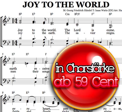 Joy to the world - Chornoten zum Download
