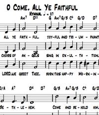 Oh come all ya faithful - Chornoten zum Download