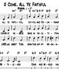 Oh come all ye faithful Sheet music
