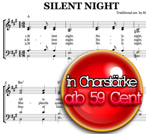 Silent night - Chornoten zum Download