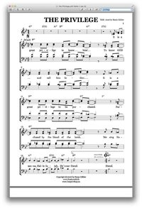 The Privilege - Sheet Music