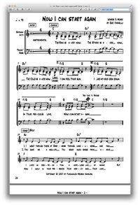 Now I can start again - Chornoten zum Download