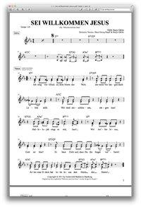 Sei willkommen Jesus - Hanjo Gäbler- Chornoten zum Download