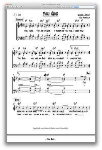 You God - Chornoten zum Download