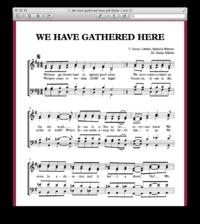 We have gathered here - Sheetmusic Gospelmusic