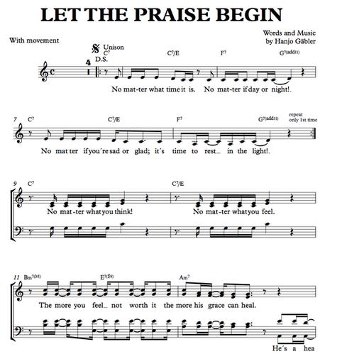 Let the praise begin - Download Sheetmusic