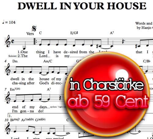 Dwell in your house - Hanjo Gäbler - Sheetmusic